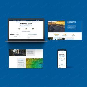 Landing page Servicad pour le salon BIM WORLD 2020