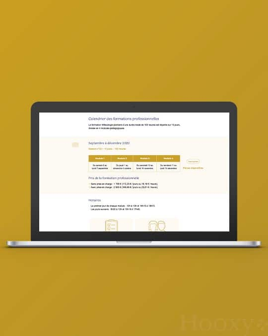 Formulaire web inscription formation Réflexologie Bretagne