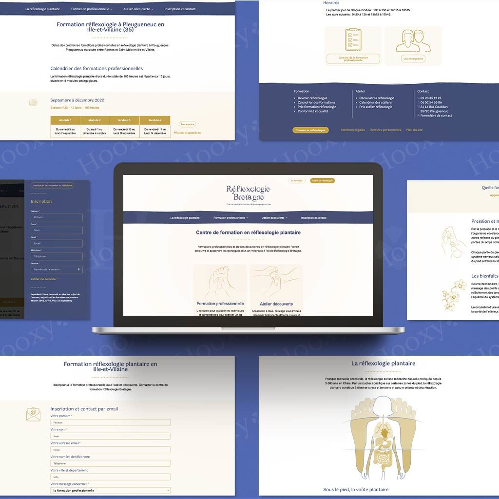 Site web du centre de formation Réflexologie Bretagne