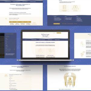 Refonte du site web du centre de formation Réflexologie Bretagne