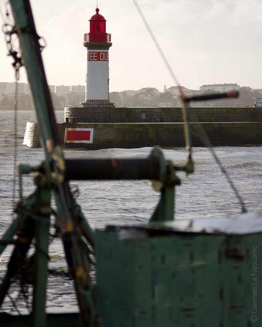 Phare de la jetée ouest du port de Saint-Nazaire
